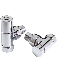 More info MHS Radius Angled Manual Chrome Radiator Valves