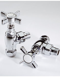 Related MHS Belgravia Chrome Plated Angled Radiator Valves Pair