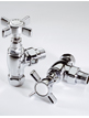 MHS Belgravia Chrome Plated Angled Radiator Valves Pair