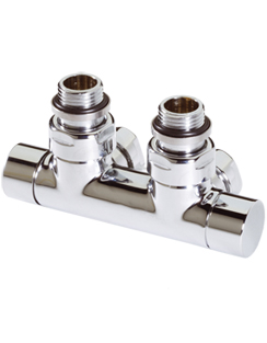 Related MHS Twin Angled Manual Chrome Radiator Valve
