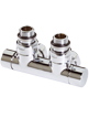 MHS Twin Angled Manual Chrome Radiator Valve