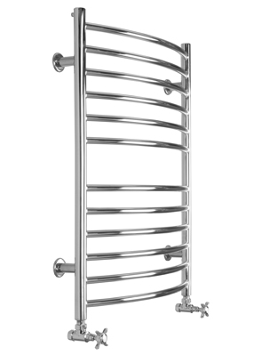 SBH Midi Curve 600 x 810mm Stainless Steel Electric Towel Radiator