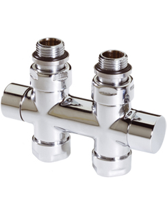 Related MHS Twin Straight Manual Chrome Radiator Valve