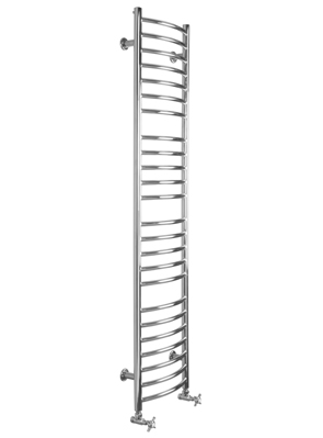 SBH Mega Slim Curve 360 x 1600mm Stainless Steel Electric Radiator