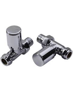 Related MHS Studio Straight Manual Chrome Radiator Valves