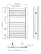 Phoenix Ascot 500 x 800mm Chrome Designer Heated Towel Rail