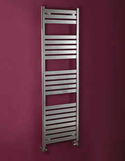More info Phoenix Ascot 500 x 1000mm Chrome Designer Heated Towel Rail