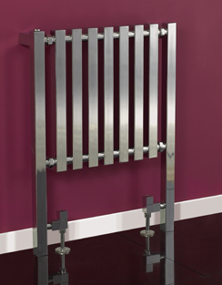 More info Phoenix Ava 600 x 800mm Chrome Floor Standing Designer Radiator