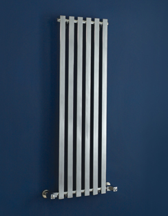 More info Phoenix Ava 400 x 1200mm Chrome Wall Mounted Designer Radiator