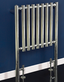 More info Phoenix Mia 600 x 800mm Chrome Floor Standing Designer Radiator