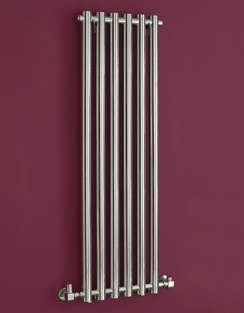 More info Phoenix Mia 400 x 1200mm Chrome Wall Mounted Designer Radiator