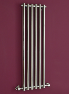 Phoenix Mia 400 x 1600mm Chrome Wall Mounted Designer Radiator