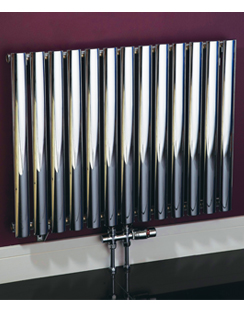 More info Phoenix Louise Horizontal 1020 x 600mm Chrome Designer Radiator