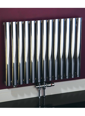 Phoenix Louise Horizontal 1200 x 600mm Chrome Designer Radiator