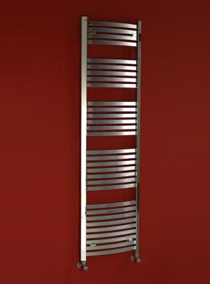 Phoenix Rochell Curved 500 x 1200mm Designer Heated Towel Rail