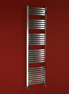 Phoenix Rochell Curved 500 x 1800mm Designer Heated Towel Rail