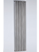 MHS Arc Single Brushed Stainless Steel Designer Radiator 570 x 600mm