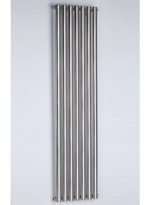 MHS Arc Single Brushed Stainless Steel Designer Radiator 250 x 1800mm