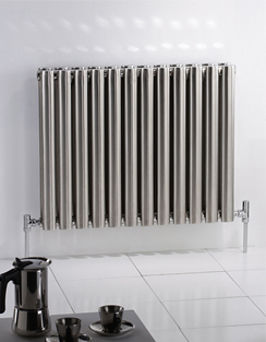 Related MHS Arc Double Brushed Stainless Steel Designer Radiator 450 x 1800mm