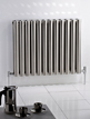 MHS Arc Double Brushed Stainless Steel Designer Radiator 1000 x 600mm
