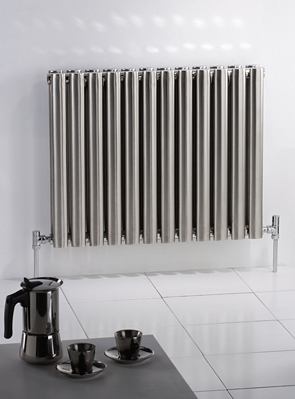 MHS Arc Double Brushed Stainless Steel Designer Radiator 1200 x 600mm