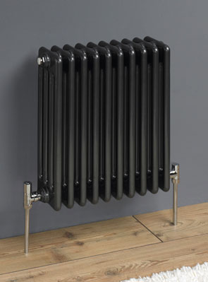 MHS Multisec Anthrasec Steel Radiator 180 x 592mm 4 Column 4 Section