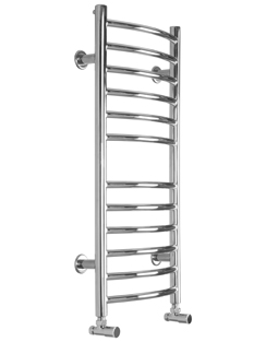 More info SBH Midi Slim Curve 360 x 810mm Stainless Steel Towel Radiator