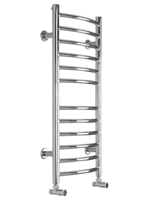 SBH Midi Slim Curve 360 x 810mm Stainless Steel Towel Radiator