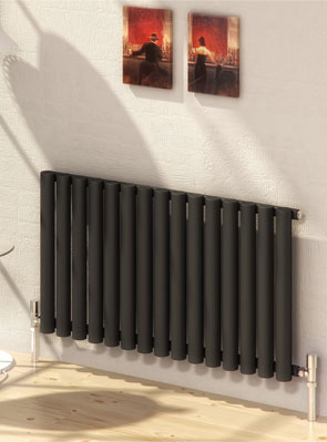 Reina Sena Black Designer Radiator 990 x 550mm
