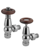 MHS Kentwell Angled Thermostatic Radiator Valves Chrome