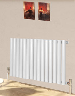 More info Reina Sena White Designer Radiator 395 x 550mm