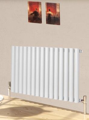 Reina Sena White Designer Radiator 395 x 550mm