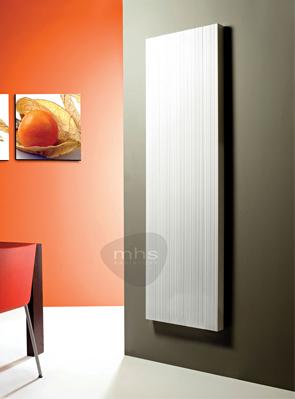 MHS Bryola 450 x 1800 White Aluminium Vertical Designer Radiator