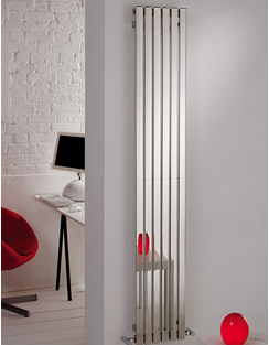 More info MHS Arturo Polished Stainless Steel Vertical Radiator 490 x 600mm