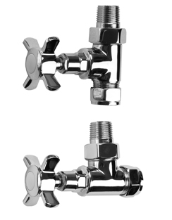 Related SBH Traditional Style Straight And Angled Chrome Radiator Valves