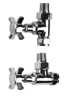 SBH Traditional Style Straight And Angled Chrome Radiator Valves