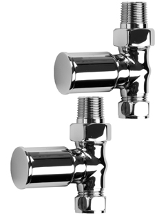 More info SBH Modern Style Straight Chrome Radiator Valves