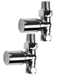 SBH Modern Style Straight Chrome Radiator Valves