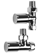 SBH Modern Style Straight And Angled Chrome Radiator Valves