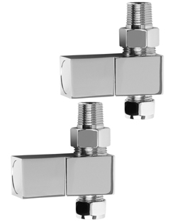 More info SBH Square Straight Chrome Radiator Valves
