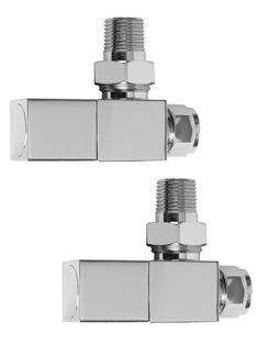 More info SBH Square Angled Chrome Radiator Valves