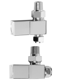 More info SBH Square Straight And Angled Chrome Radiator Valves