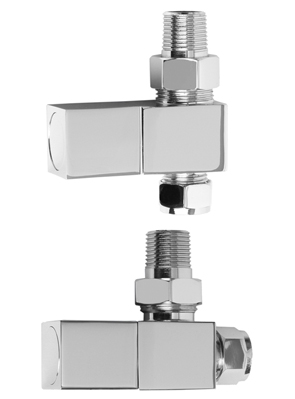 SBH Square Straight And Angled Chrome Radiator Valves