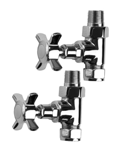 More info SBH Traditional Style Straight Chrome Radiator Valves