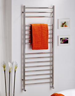 More info MHS Alara Polished Stainless Steel Straight Towel Rail 500 x 430mm