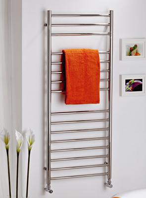 MHS Alara Polished Stainless Steel Straight Towel Rail 500 x 430mm