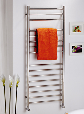 MHS Alara Polished Stainless Steel Straight Towel Rail 350 x 1200mm