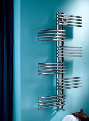 MHS Fingers 700 x 1200mm Polished Stainless Steel Towel Rail