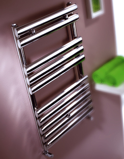 Related MHS Oval Brushed Stainless Steel Dual Fuel Adjustable Towel Rail 500x800mm