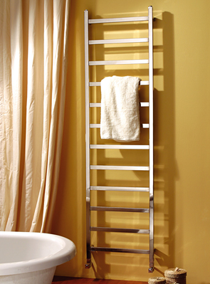 MHS Climber 350 x 1800mm Polished Stainless Steel Heated Towel Rail